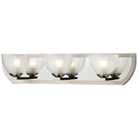 Sculptive 3 Light 22 inch Polished Nickel & Matte Nickel Bath Bar Wall Light