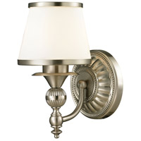 ELK 11600/1 Smithfield 1 Light 8 inch Brushed Nickel Vanity Light Wall Light in Incandescent