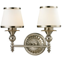 ELK Lighting Smithfield 2 Light Bath Bar in Brushed Nickel 11601/2