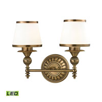 ELK Lighting Smithfield LED Bath Bar in Aged Brass 11611/2-LED