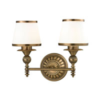 ELK Lighting Smithfield 2 Light Bath Bar in Aged Brass 11611/2