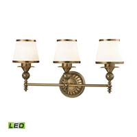ELK Lighting Smithfield LED Bath Bar in Aged Brass 11612/3-LED