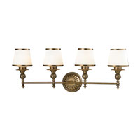 ELK Lighting Smithfield 4 Light Bath Bar in Aged Brass 11613/4