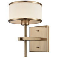 ELK 11615/1 Utica 1 Light 8 inch Satin Black Vanity Light Wall Light