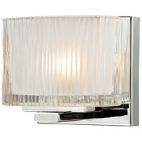 ELK Lighting Chiseled Glass 1 Light Bath Bar in Polished Chrome 11620/1