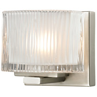 ELK Lighting Chiseled Glass 1 Light Bath Bar in Brushed Nickel 11630/1