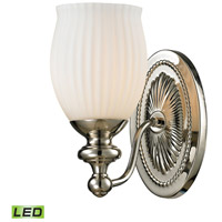 ELK 11640/1-LED Park Ridge LED 8 inch Polished Nickel Vanity Light Wall Light photo thumbnail