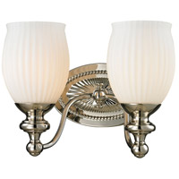 Park Ridge 2 Light 11 inch Polished Nickel Vanity Light Wall Light in Incandescent