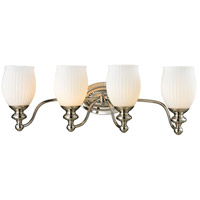 Park Ridge 4 Light 26 inch Polished Nickel Vanity Light Wall Light in Incandescent