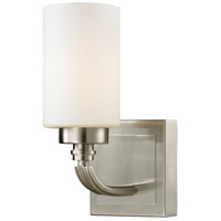 ELK 11660/1 Dawson 1 Light 6 inch Brushed Nickel Vanity Light Wall Light in Incandescent