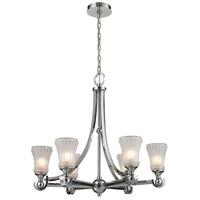 ELK Lighting Jayden 6 Light Chandelier in Polished Chrome with Frosted Glass 11686/6