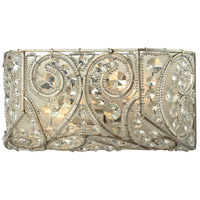 ELK 11690/2 Andalusia 2 Light 12 inch Aged Silver Vanity Light Wall Light