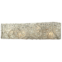 Andalusia 4 Light 24 inch Aged Silver Bath Bar Wall Light