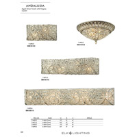 ELK 11691/4 Andalusia 4 Light 24 inch Aged Silver Vanity Light Wall Light alternative photo thumbnail