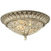 ELK Lighting Andalusia 2 Light Flush Mount in Aged Silver 11693/2