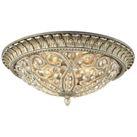 Andalusia 4 Light 17 inch Aged Silver Flush Mount Ceiling Light