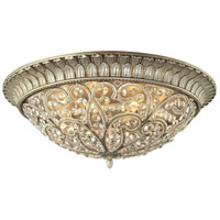 ELK Lighting Andalusia 8 Light Flush Mount in Aged Silver 11695/8