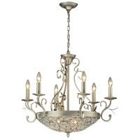 Andalusia 9 Light 28 inch Aged Silver Chandelier Ceiling Light
