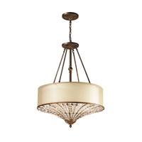 ELK Lighting Crystal Spring 4 Light Pendant in Spanish Bronze 11702/4