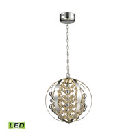 Light Spheres LED 16 inch Polished Chrome Pendant Ceiling Light