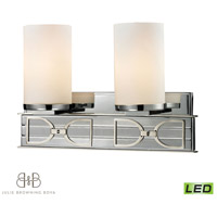 ELK 11741/2-LED Campolina LED 16 inch Polished Chrome & Brushed Nickel Bath Bar Wall Light