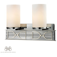 ELK 11741/2 Campolina 2 Light 16 inch Polished Chrome & Brushed Nickel Bath Bar Wall Light