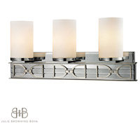 Campolina 3 Light 24 inch Polished Chrome & Brushed Nickel Bath Bar Wall Light