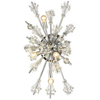Starburst 4 Light 13 inch Polished Chrome Wall Sconce Wall Light