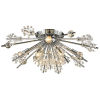 Starburst 8 Light 26 inch Polished Chrome Semi Flush Mount Ceiling Light