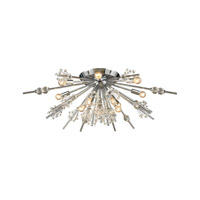 Starburst 12 Light 34 inch Polished Chrome Semi Flush Mount Ceiling Light