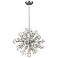 Starburst 15 Light 20 inch Polished Chrome Chandelier Ceiling Light