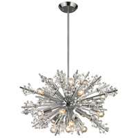Starburst 19 Light 26 inch Polished Chrome Chandelier Ceiling Light