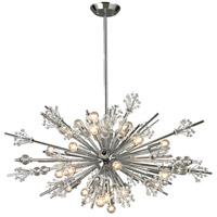 Starburst 24 Light 36 inch Polished Chrome Chandelier Ceiling Light