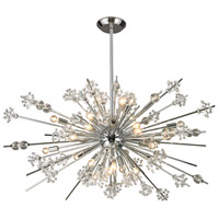 Starburst 29 Light 48 inch Polished Chrome Chandelier Ceiling Light