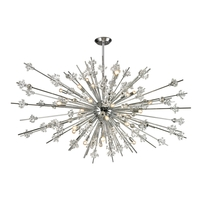 Starburst 31 Light 72 inch Polished Chrome Chandelier Ceiling Light