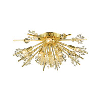 Starburst 8 Light 26 inch Polished Gold Semi Flush Mount Ceiling Light