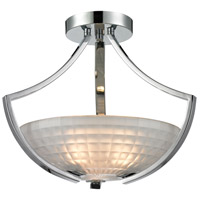 Sculptive 3 Light 13 inch Polished Chrome Semi Flush Ceiling Light