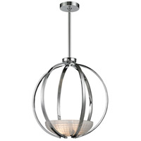 ELK 11763/3 Sculptive 3 Light 20 inch Polished Chrome Pendant Ceiling Light