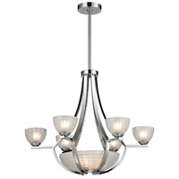 ELK Lighting Sculptive 9 Light Chandelier in Polished Chrome with Frosted Glass 11764/6+3