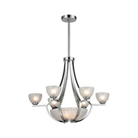 ELK 11764/6+3 Sculptive 9 Light 26 inch Polished Chrome Chandelier Ceiling Light