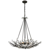 ELK Lighting Crystal Branches 8 Light Pendant in Burnt Bronze 11773/8