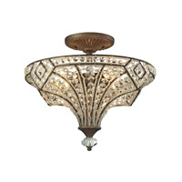 Jausten 4 Light 16 inch Antique Bronze Semi Flush Ceiling Light