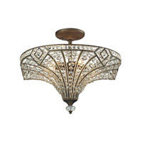 Jausten 5 Light 21 inch Antique Bronze Semi Flush Ceiling Light
