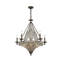 ELK 11785/5+5 Jausten 10 Light 30 inch Antique Bronze Chandelier Ceiling Light