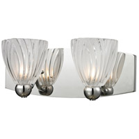 ELK Lighting Lindale 2 Light Vanity in Polished Chrome with Frosted Glass 11791/2