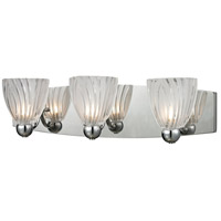 ELK Lighting Lindale 3 Light Vanity in Polished Chrome with Frosted Glass 11792/3