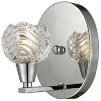 ELK Lighting Crystal Wave 1 Light Vanity in Polished Chrome with Clear Glass 11800/1