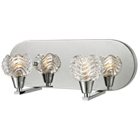 ELK Lighting Crystal Wave 2 Light Vanity in Polished Chrome with Clear Glass 11801/2