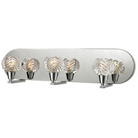 ELK 11802/3 Crystal Wave 3 Light 21 inch Polished Chrome Vanity Wall Light