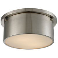 ELK Lighting Simpson 2 Light Flushmount in Brushed Nickel with Frosted White Glass 11820/2